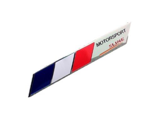 フランス国旗/モータースポーツ/鏡面3Dエンブレム 両面テープ仕様