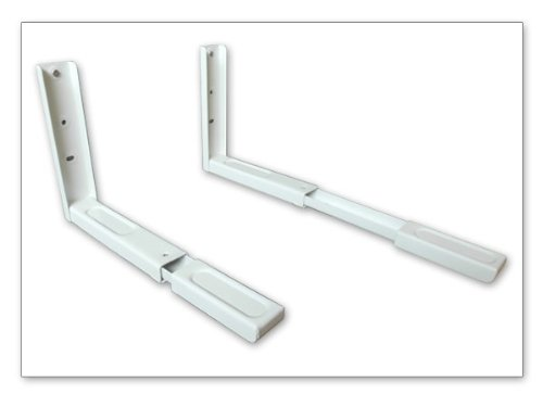 Wandhalterung - MIKROWELLE BLURAY- DVD-PLAYER SATELLITEN RECEIVER HIFI ANLAGE KONSOLE (passt für SAMSUNG PHILIPS SONY LG PANASONIC GRUNDIG ACER THOMSON TELEFUNKEN BLAUPUNKT TOSHIBA - LED LCD TFT Plasma Full-HD 3D Fernseher) - Wandregal Ablage - Weiß - Konsole Player Halterung Wandhalter Regal - Modell: H71