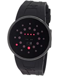 Montre The One Slim Round au design très fin, noir à LEDs rouges