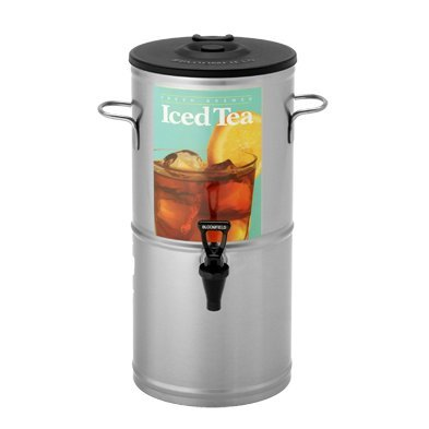 "Bloomfield 8802-5G Iced Tea Dispenser With Handles, 5-Gallon, Stainless Steel, 10 3/8"" Depth, 22 3/8"" Height front-355168"
