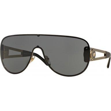 Versace 2166 125287 Pale Gold 2166 Visor Sunglasses Lens Category 3