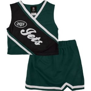 NFL New York Jets Toddler 2-Piece Cheerleader Set - Green/Black (2T) at Amazon.com