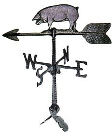 Montague Metal Products 24-Inch Weathervane with Pig Ornament
