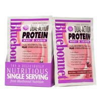 Dual Action Protein Strawberry Bluebonnet 1 Lbs Powder