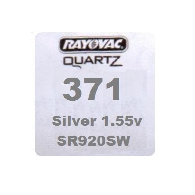 Rayovac- Button Cell Watch Battery - Type 371
