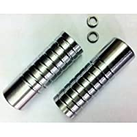 Pair OF Silver BMX Stunt Pegs - Will Fit 10mm & 14mm Axles from Premier
