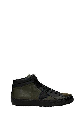 Sneakers Philippe Model Uomo Pelle Verde Oliva MDHUVX01 Verde 43EU