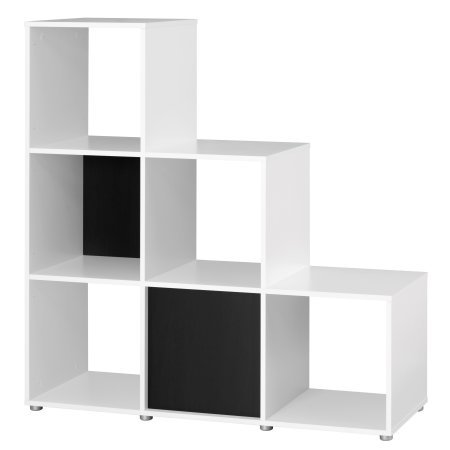 Twist 6 Shelf Room Divider, White