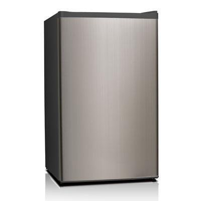 midea WHS-121LSS1 Single Reversible Door Refrigerator and Freezer, 3.3 Cubic Feet, Stainless Steel