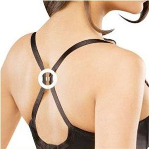 Bra Clip - Cleavage Enhancer & Racer Back Strap Creator - White
