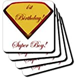 Edmond Hogge Jr Birthdays 1st Birthday Super Boy Coasters