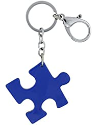 Magideal Blue Acrylic Puzzle Keychain Charm Key Ring Boy Girl Women Men Bag Key Decor