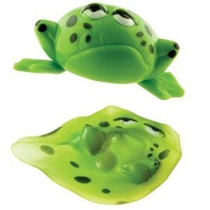 3 Green Frog Splat Ball Toys - 1