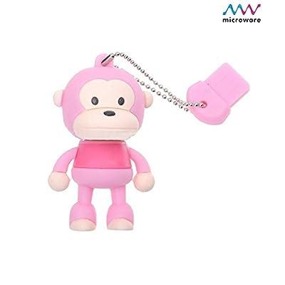 Microware Monkey Pink ShMicroware Designer 8 GB Pendrive