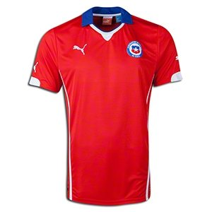 Puma Men's Chile Home Replica Soccer Jersey, Puma Red, Medium