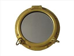Gold Finish Decorative Ship Porthole Window 24\