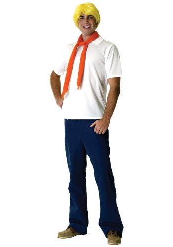 Rubies Costumes Men's Scooby-Doo Fred Adult Costume