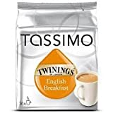 Tassimo Twinings English Breakfast Tea, (pack of 6) 16 T-Discs