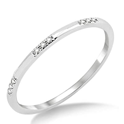 Miore MP9015RM 9 ct White Gold Diamond Eternity Ring