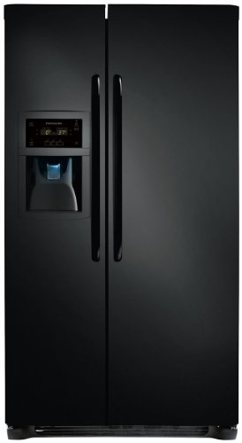 Frigidaire Ffsc2323Le 22.6 Cubic Foot Counter Depth Side-By-Side Refrigerator With Energy Saver Plus T, Ebony front-561437