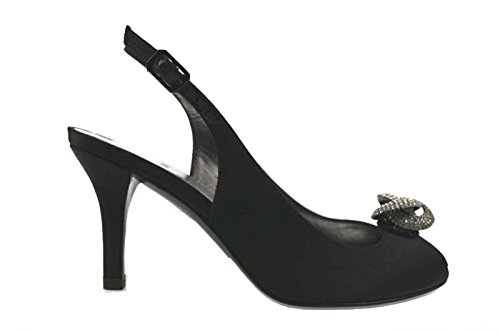 scarpe donna STUART WEITZMAN sandali nero raso ap823 (36 EU)