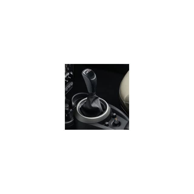 MINI R60 Countryman C S ALL4 25 11 2 147 230 John Cooper Works Shift Knobs   Leather Alcantara w/ Carbon Fiber insert (Logo) Automotive