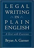 img - for Legal Writing in Plain English 1st (first) edition Text Only book / textbook / text book