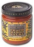 Desert Pepper, Mango Peach Salsa-Medium, 16 Ounce Jar