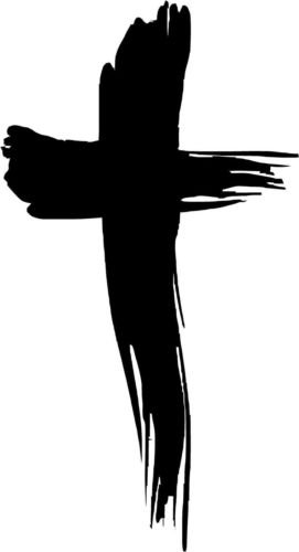 Painted Cross Vinyl Decal Car Window Wall Laptop Sticker, Die cut vinyl decal for windows, cars, trucks, tool boxes, laptops, MacBook - virtually any hard, smooth surface