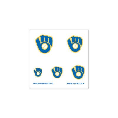 Milwaukee Brewers Retro Glove Official Logo Fingernail Tattoos at Amazon.com
