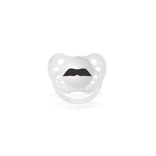 Personalized Pacifiers The Chevron Mustache - Clear