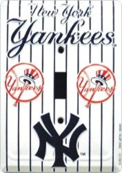 NEW YORK YANKEES METAL LIGHT SWITCH PLATE COVER