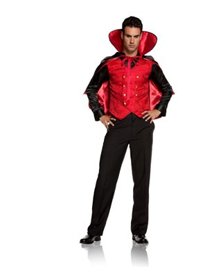 Sexy Vampire Villain Mens Halloween Costume