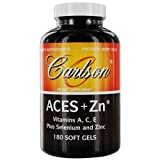 Carlson by ACES + Zn Vitamins A, C, E Plus Selenium And Zinc- 180 Soft Gels