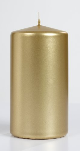 Metallic Pillar Candle Size: 3