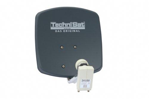 TechniSat DigiDish 33 Zweiteilnehmer-Set best.aus DigiDish 33, Universal Twin LNB, 2x DIGIT MF4-S,10m Kabel, grau