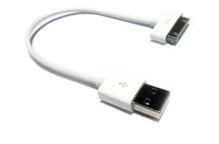 iPhone4/4S/3GS/3G/iPod 対応充電・通信ケーブル 0.2m ホワイト
