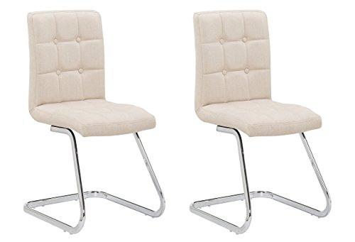 2x-Polsterstuhl-MERLIN-von-1stuff-Freischwinger-Esszimmerstuhl-Schwingstuhl-Konferenzstuhl-Besucherstuhl-Besprechungsstuhl-Kchenstuhl-Stuhl-fr-Wartezimmer-beige-Leinen