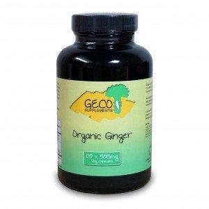 Organic Ginger (120 x 500mg Veg Capsules)