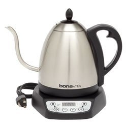 Bonavita Electric Hot Water Kettle for Tea and Coffee - 1 Liter Pot with Gooseneck Spout and Variable Temperature Settings (Bonavita Hot Water Kettle compare prices)