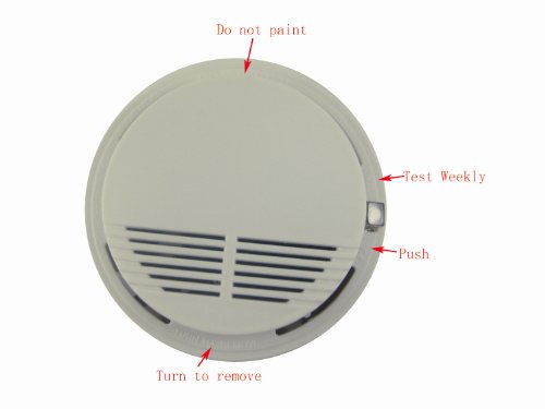 Home Smoke Detector Alarm (Optical Sensors) White