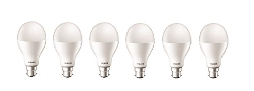 Philips Stellar Bright 20W B22 LED Bulb (Pack of 6, Cool Day Light)