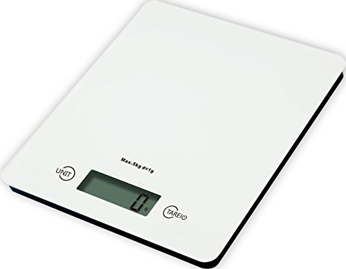 V.C.Formark Tempered Glass Surface Digital Multifunction Kitchen and Food Scale,White by V.C.Formark