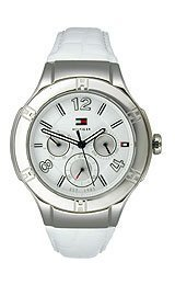 Tommy Hilfiger Multifunction Leather White Dial Women's Watch 1781361