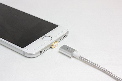HKW ライトニング USB マグネットケーブル スマートタイプ iPhone 6s / 6s Plus / iPhone 6 / 5 / iPad Air / iPad mini 他対応 (シルバー) 414498