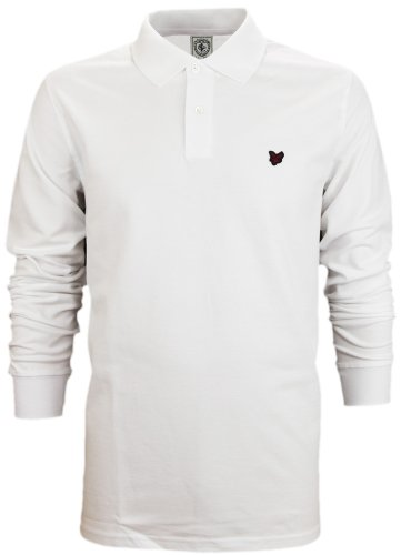 Lyle & Scott Heritage Men's Long Sleeve Polo T-Shirt White (M)