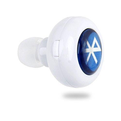 BYD - Mini Stereo Wireless Auricolare Bluetooth Cuffia senza fili in-ear Mini con microfono per il cellulare iPhone 6 5S 5C 5 4S iPod iPad Air Mini Samsung Galaxy S6 S5 S4 Note 2 3 Nexus 7 e la maggior parte dei dispositivi Bluetooth - Blanco