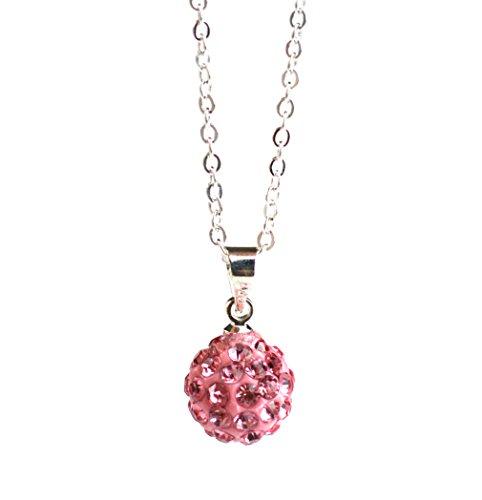 rosa-tono-cristalli-swarovski-disco-ball-collana-gioielli-per-le-donne-base-metal-colore-pink