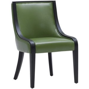 Green Leather Dining Chair Chair Pads Cushions