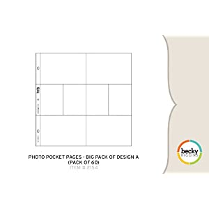 Photo Pocket Pages - Big Pack of Design A (60 Pages)